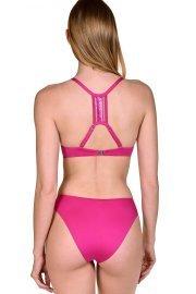 Модни бански бикини с визия за по-дълги крака в розово и черно Lisca Porto Montenegro 2021 Лиска Selection SW от www.liscashop.bg