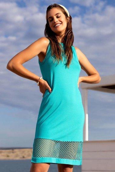 Плажна рокля без ръкави в черно и бяло Lisca Cheek Ibiza 2021