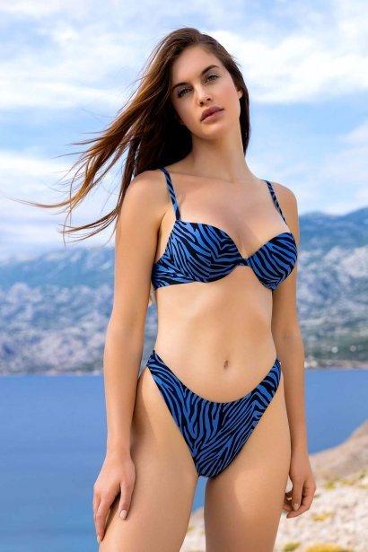Бански бикини с визуално по-дълги крака в кафяво или синьо Lisca Fashion Lima 2021