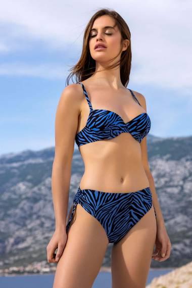 Бански топ с оформени чашки и банели за красиво деколте в кафяво или синьо Lisca Fashion Lima 2021