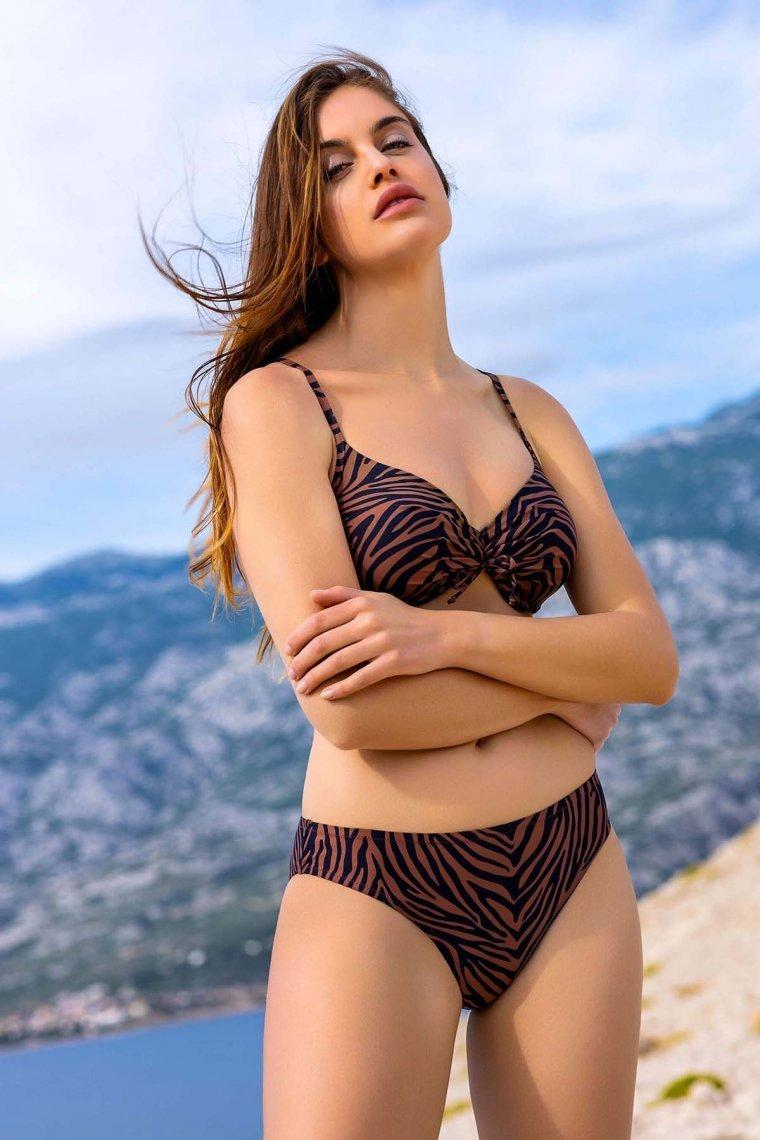 Класически бански бикини lower cut в кафяво или синьо Lisca Fashion Lima 2021 Лиска Fashion SW от www.liscashop.bg
