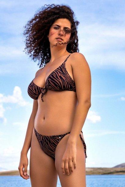Женствени бански бикини с връзки в кафяво или синьо Lisca Fashion Lima 2021