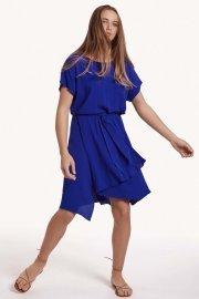 Лятнa рокля с къс ръкав в червено или синьо Lisca Fashion Nice 2021 Лиска Fashion SW от www.liscashop.bg