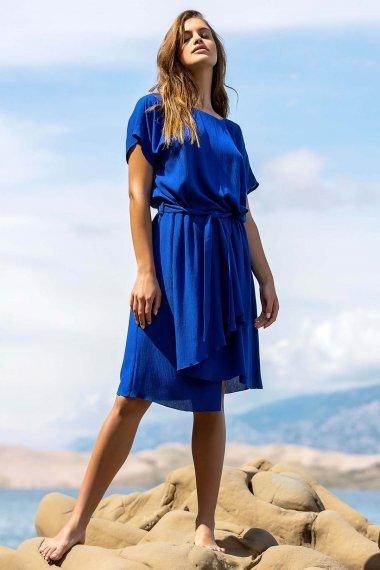 Лятнa рокля с къс ръкав в червено или синьо Lisca Fashion Nice 2021