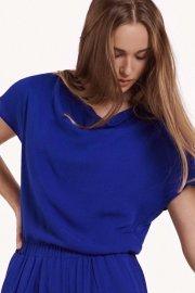 Лятнa блуза с къс ръкав в червено или синьо Lisca Fashion Nice 2021 Лиска Fashion SW от www.liscashop.bg