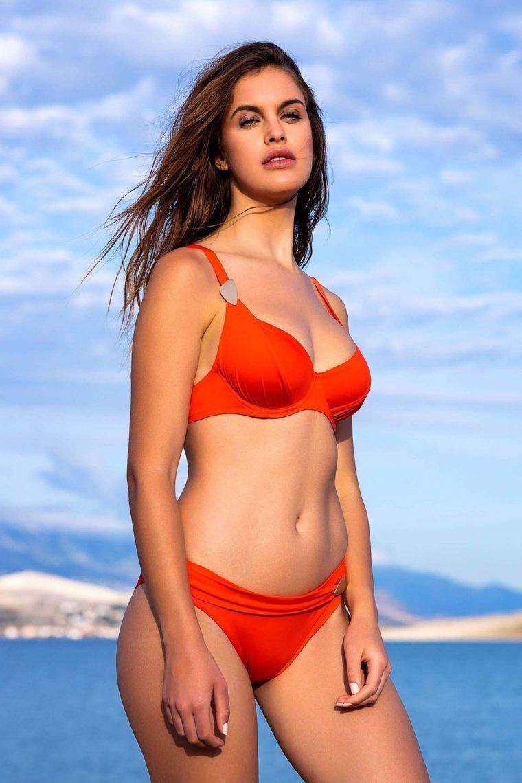 Дамско горнище на бански костюм с меки чашки и банели Lisca Fashion Okinawa 2021 Лиска Fashion SW от www.liscashop.bg