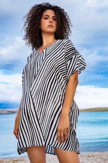 Плажна туника с къси ръкави и V-образно деколте Lisca Fashion Okinawa 2021