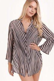 Удобна лятна дамска блуза с 3/4 ръкави и яка Lisca Fashion Okinawa 2021 Лиска Fashion SW от www.liscashop.bg