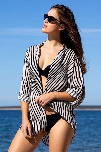 Удобна лятна дамска блуза с 3/4 ръкави и яка Lisca Fashion Okinawa 2021