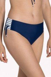 Дълбоки бански бикини с връзки отстрани в синьо и бяло Lisca Fashion Puerto Rico 2021 Лиска Fashion SW от www.liscashop.bg