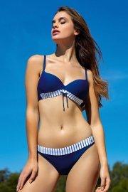 Класически бански бикини с райе в синьо и бяло Lisca Fashion Puerto Rico 2021 Лиска Fashion SW от www.liscashop.bg