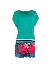 Красива лятна туника с къси ръкави и връзки около талията Lisca Fashion Tahiti 2021 Лиска Fashion SW от www.liscashop.bg