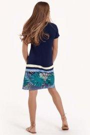 Модерна лятна рокля с къси ръкави и кръгло деколте Lisca Fashion Tahiti 2021 Лиска Fashion SW от www.liscashop.bg