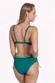 Дълбоки бански бикини с връзки отстрани в зелено или черно Lisca Fashion Utila 2021 Лиска Fashion SW от www.liscashop.bg