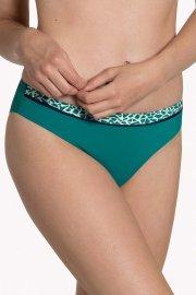 Класически бански бикини с модерен геометричен печат в зелено или черно Lisca Fashion Utila 2021 Лиска Fashion SW от www.liscashop.bg