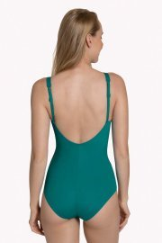 Оформящ цял бански костюм с меки чашки с банели в зелено или черно Lisca Fashion Utila 2021 Лиска Fashion SW от www.liscashop.bg