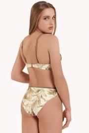 Елегантно долнище на бански костюм с безшевни отвори за краката в синьо и зелено Lisca Selection Ensenada 2021 Лиска Selection SW от www.liscashop.bg