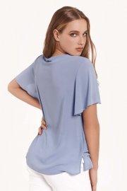 Луксозна лятна дамска блуза с къси ръкави в бяло или синьо Lisca Selection Ensenada 2021 Лиска Selection SW от www.liscashop.bg