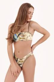 Секси долнище на бански с визия за по-дълги крака в синьо и зелено Lisca Selection Ensenada 2021 Лиска Selection SW от www.liscashop.bg