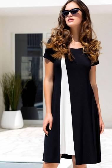 Плажна рокля с къси ръкави в черно и бяло Lisca Guaraja 2021
