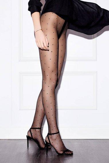 Моден чорапогащник на точки Lisca Fashion 20 den, удобна латична лента на кръста
