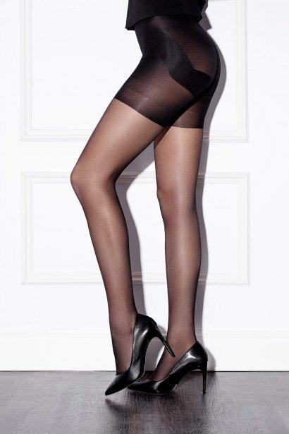 Модерен чорапогащник за оформяне на тялото с повдигащ ефект Lisca Fashion 25 den с плосък шев