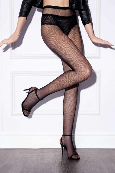 Модни мрежести чорапогащи Lisca Fashion, безшевни с невидими подсилвания на пръстите
