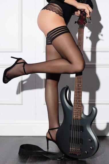 Съблазнителни прозрачни чорапогащи Lisca Fashion 15 den, самозадържащ се със силиконова лента