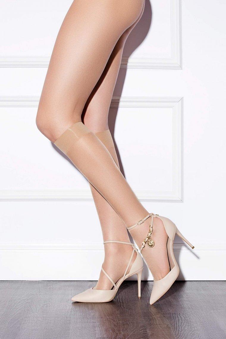 Тънки прозрачни чорапи до коляното Lisca Fashion 15 den, полуматови с подсилени пети Лиска Fashion от www.liscashop.bg